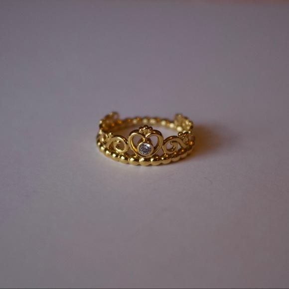 PANDORA Shine 18k Over Silver Tiara Crown Ring